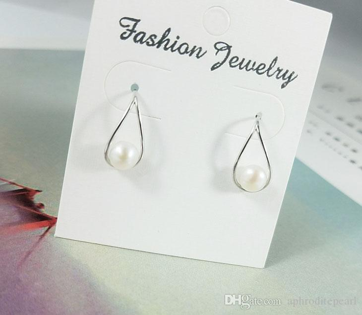 1 pair solid sterling silver earring setting, rain drop earring mounting, earring blank without pearl, jewelry diy, gift diy