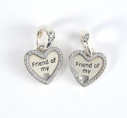 296f35e31 2019 New 925 Sterling Silver Hearts Of Friendship Dangle Charm, Clear CZ  Beads Fit Pandora Charms Bracelet Woman DIY Jewelry From Haijing2005, ...
