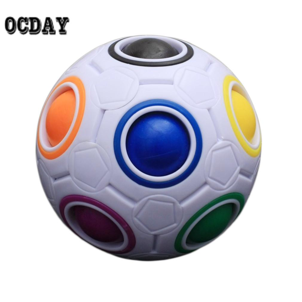OCDAY Rainbow Football Creative Ball Children Kids Spherical Magic Cube Toy Learning And Education Puzzle Block Toys Hot Selling