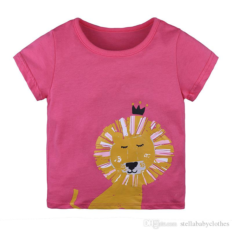 4758e106 2019 Factory Direct Sales Cartoon Lion Parttern Girls T Shirt Cotton  Printing Girl T Shirts Top Short Sleeve Tee Shirt Clothing From  Stellababyclothes, ...
