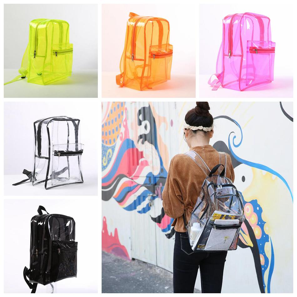 2018 Transparent Jelly Pvc Backpack Girls School Book Bag Waterproof  Outdoor Storage Shoulders Bag Outdoor Bags Ooa5157 From Sport_no1, $7.08 |  Dhgate.Com