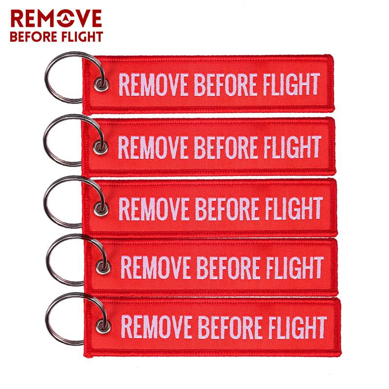 Großhandel Remove Before Flight Woven Schlüsselanhänger Spezielle ...