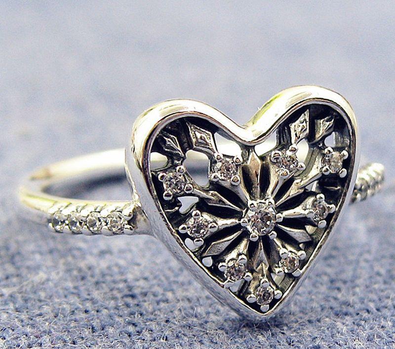 2b8e7085cd70 Compre Anillo De Mujer 925 Joyas De Plata Estilo Europeo Pandora Style  Charm Corazón De Invierno Anillo Con Cz A  17.64 Del Vivipandora