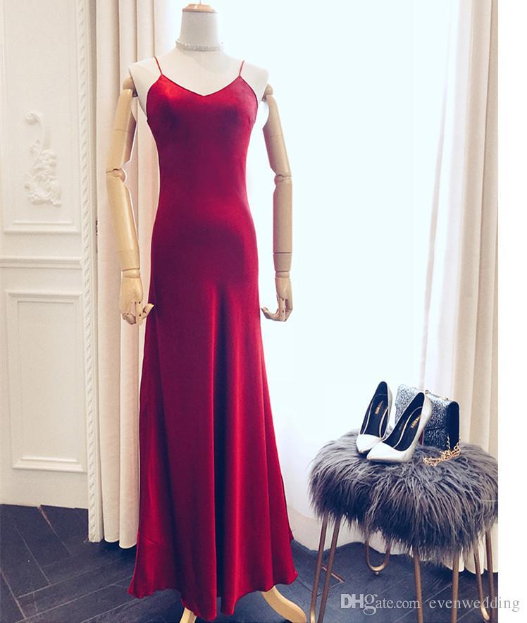 Robe de soirée sirène en satin 2018 Nouvelles robes de soirée longues Robes de soirée sur mesure élégantes