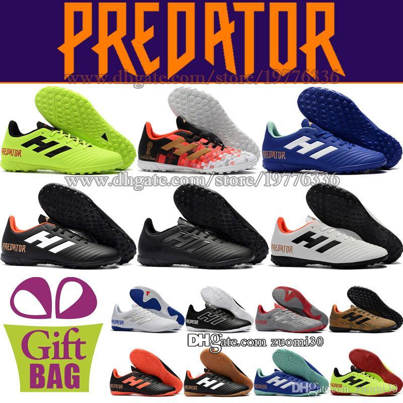 cheap for discount 8af31 2a03c Compre Zapatos De Fútbol Para Hombre Originales Para Hombre Turf Predator  Tango 18.4 EN TF Botines De Fútbol Botas De Fútbol De Cuero Para Interiores  Rosa ...