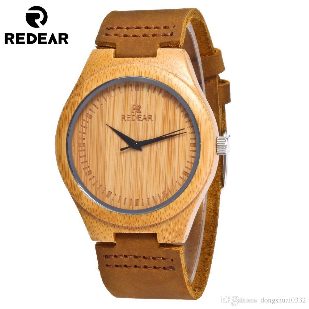 Grosshandel Redear Wood Watch Novel Coole Bambus Uhr Aus Holz Herren