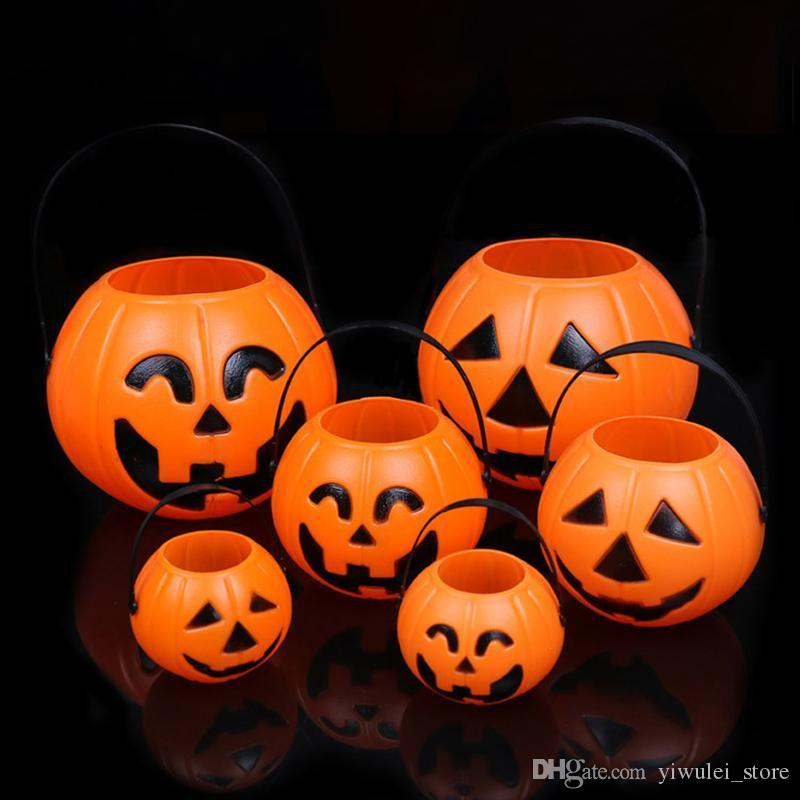 Dolci Halloween.1pc Zucca Di Halloween Dolcetto Dolci Dolci Carry Holder Jar Jug Barrel Party Pumpkin Festival Lantern