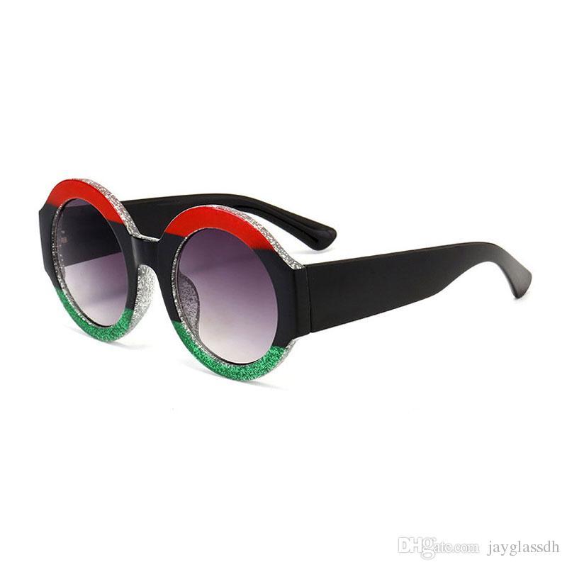 3cc6b9c334 2018 New Fashion Trend Brand Design Round Sunglasses Three Colors Frame HD Lens  Womens Designer Mens Vintage Unisex Accessory Sunglasses Cheap Prescription  ...