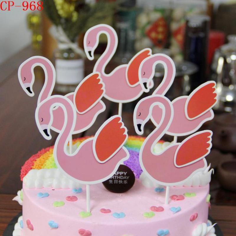 Compre Bonito Flamingo Forma Cupcake Bolo Topper Casamento Noivado