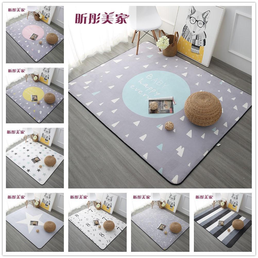 Großhandel 120X180 CM Nordic Style Teppiche Für Wohnzimmer Home  Schlafzimmer Teppiche Und Teppiche Couchtisch Kurze Bereich Teppich Kinder  Spielmatte Decke ...