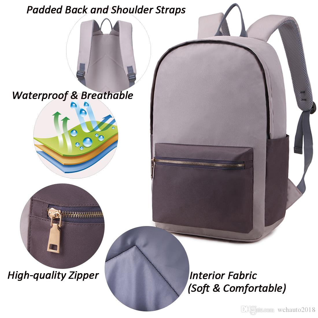 Backpack Bag Waterproof Laptop Computer Bag College School Notebook ... 5c0a76598d76e