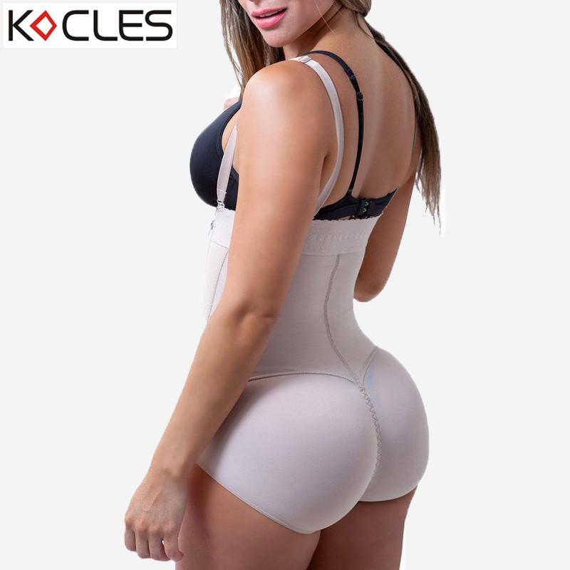 057acec5ebb Plus Size Hot Latex Women s Body Shaper Post Liposuction Girdle Clip and Zip  Bodysuit Vest Waist Shaper Reductoras Shapewear