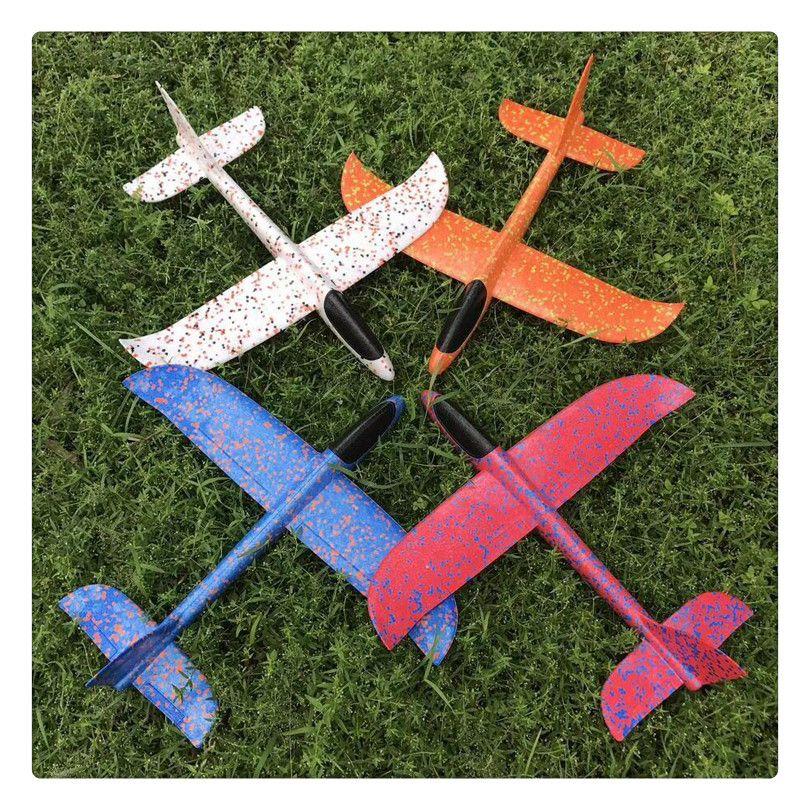 Throwing Glider Inertia Plane Foam Aircraft Toy 48cm Outdoor Sports Airplane Model Toy for Kids Children Boy Gift