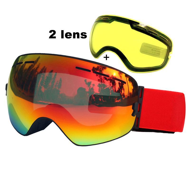 0c7ab3b523b 2019 Double Lens Ski Goggles Anti Fog UV400 Spherical Ski Glasses Skiing  Snow Snowboard Goggles Ski Eyewear Brightening Lens C18110301 From  Shen8402