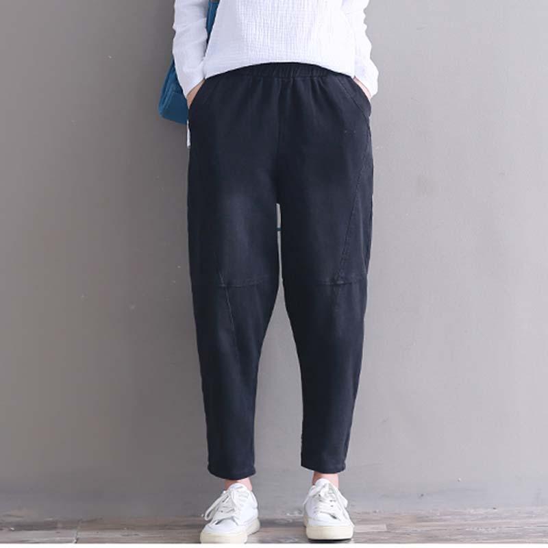 Compre Pantalones Harem Lavados Mujer De Mezclilla Pantalones Vaqueros  Sueltos Pantalones Vaqueros De Lana Ancha Cadera Coreana Vintage Cosecha  Alta Cintura ... 8fcbadd97484