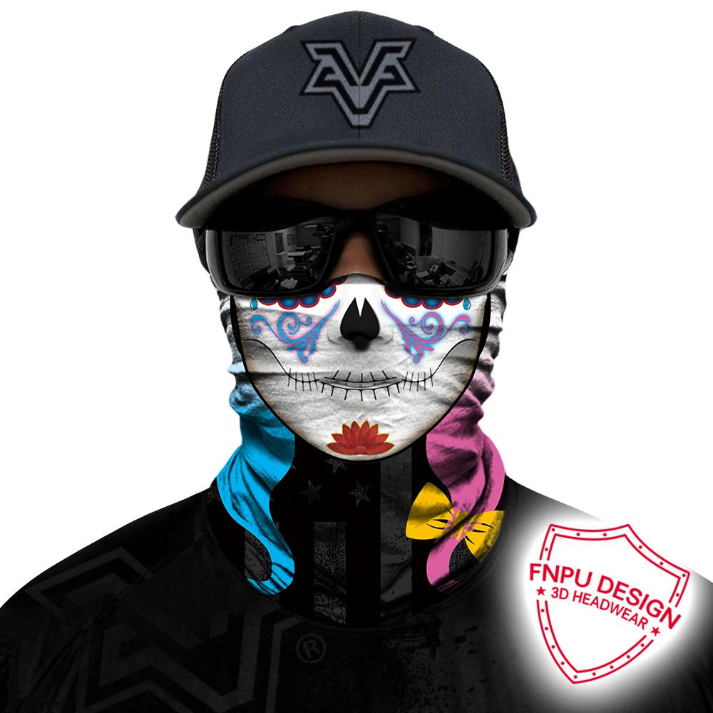 3D Skeleton Skull Seamless Magic Face Mask Shield Hunting Cycling Hiking  Bandana Headband Tube Scarf Clown Jokers Magic Bandana Circle Scarf Winter  Scarf ... 6b3893a6b35