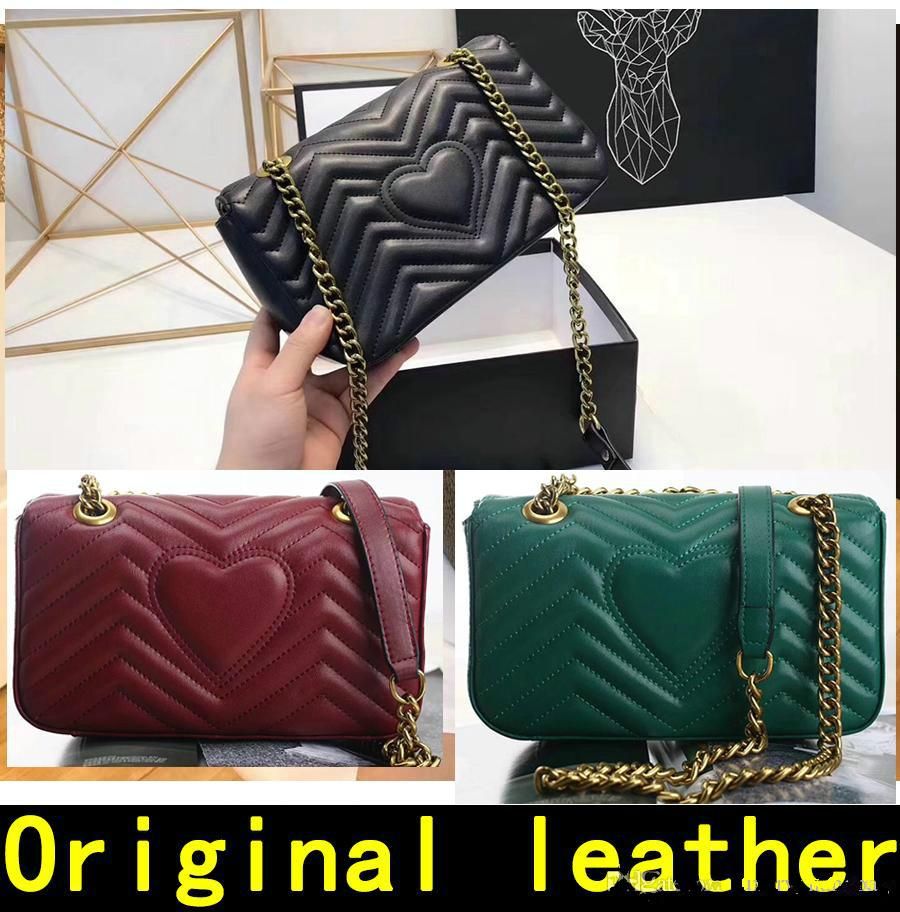 Designer Handbags High Quality Luxury Handbags Famous Brands Handbag Women  Bags Real Original Cowhide Genuine Leather Chain Shoulder Bags Online with  ... fb465eaac0e15