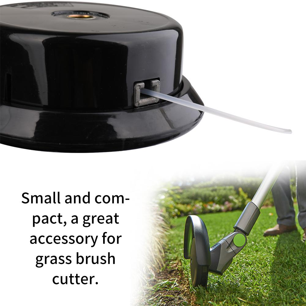 Universal Hard Plastic Threaded Interface Grass Trimmer Brush Cutter Head Top Lawn Mower Accessory with 1 Nylon Trimmer Rope