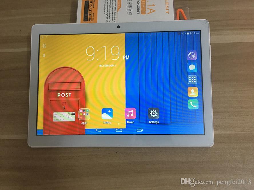 Dhl شحن مجاني الهاتف 10.1 بوصة اللوحي MTK6580 رباعية النواة 3 جرام الهاتف android4.4.2 قرص 1 جيجابايت رام 16 جيجابايت rom مع ips الشاشة wifi بلوتوث