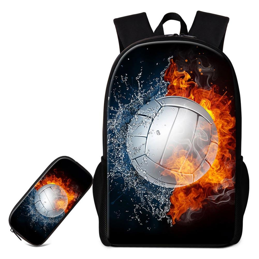 93fb7b7d02 Fashionable Flame Printing School Backpack Shoulder Book Bags For Middle  High School Students Boys Girls Bookbag With Pencil Box 16Inch Purses School  Bags ...