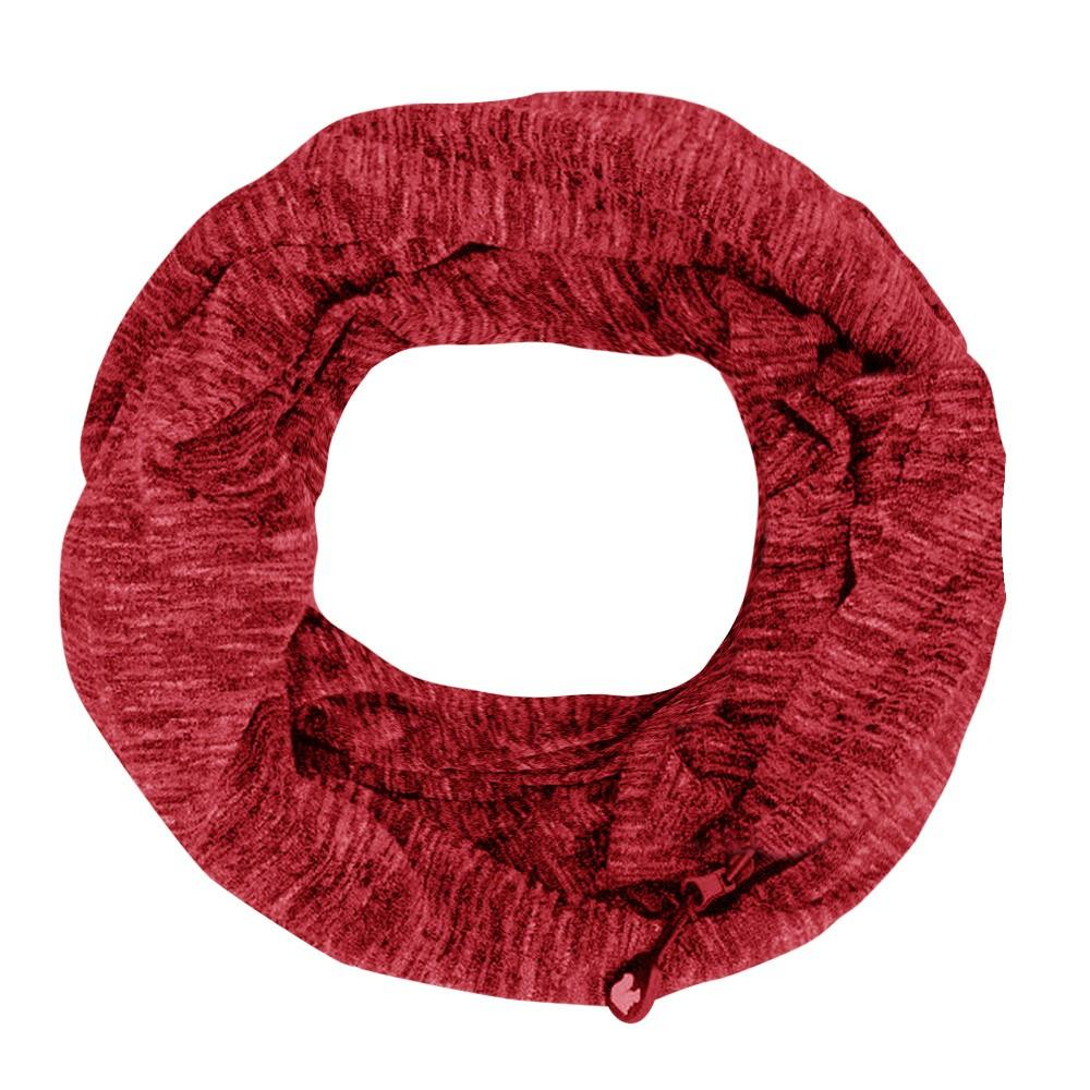 Acheter Echarpe Infinity Convertible Pour Femmes En Hiver Solide Avec Poches  À Fermeture À Glissière Et Écharpes Bufandas Invierno Mujer 2018 Echarpes  ... 44ef474a356