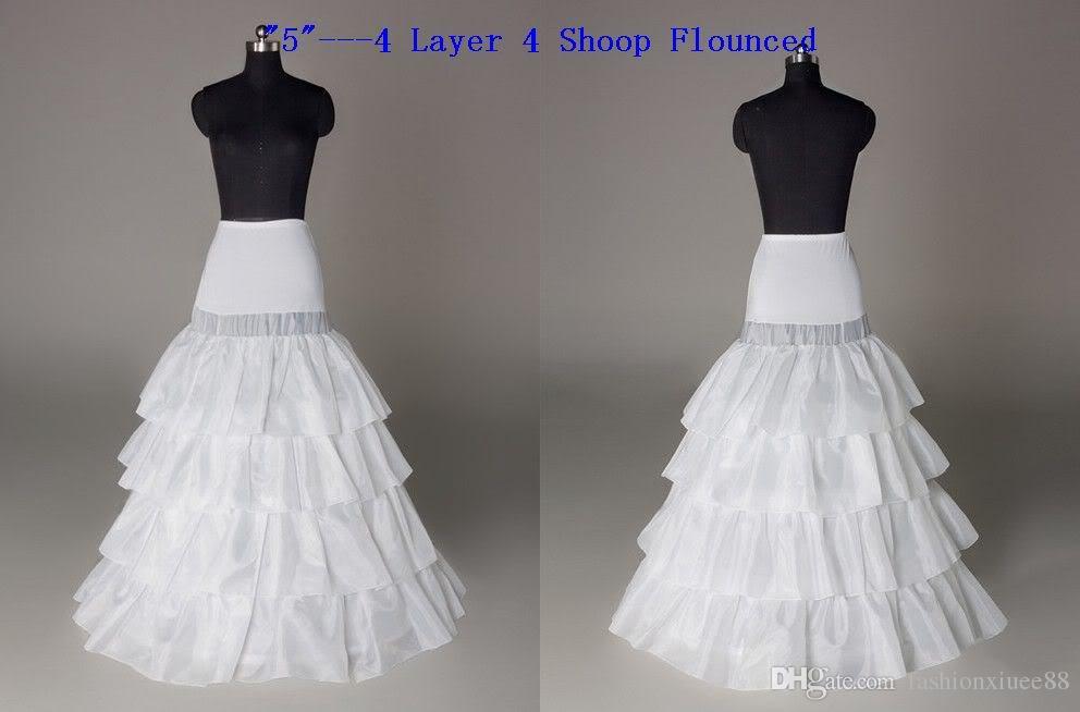 Envío gratuito de tafetán una línea de vestido completo 4 niveles palabra de longitud estilo de deslizamiento nupcial novia niña enagua enagua