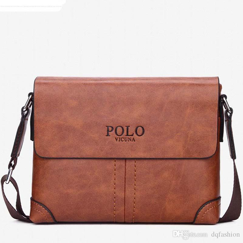 ca26aca591 Famous Brand Leather Men Bag Briefcase Casual Business Leather Mens  Messenger Bag Vintage Men S Crossbody Bag Bolsas Male Satchel Bags Man Bags  From ...