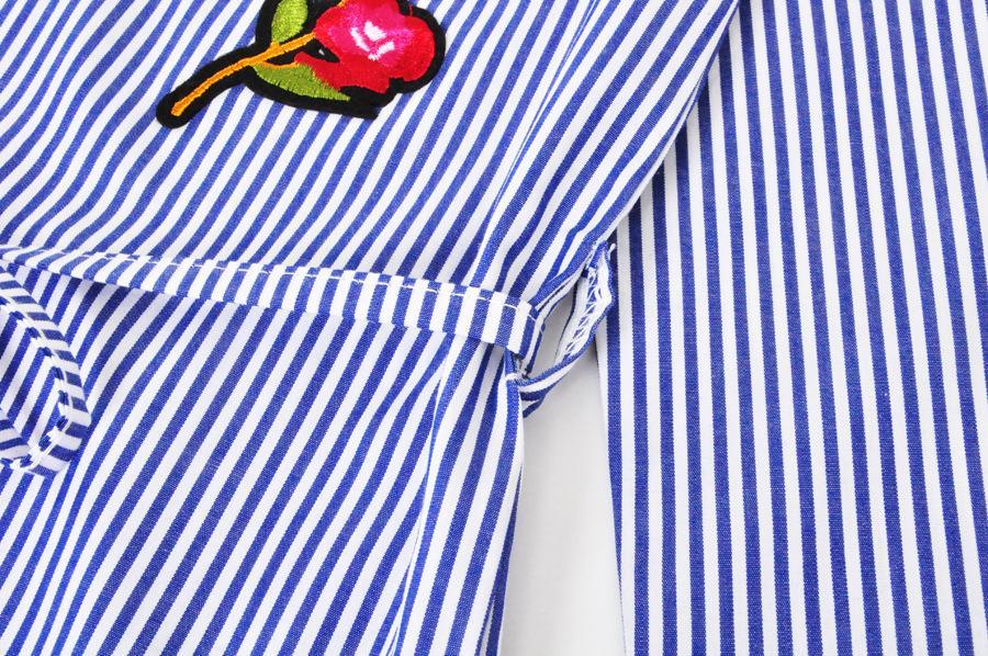 Robe-chemise à rayures pour enfants 2018 Nouveaux Robes de princesse pour enfants Fleurs Boutique Vêtements pour enfants C3775
