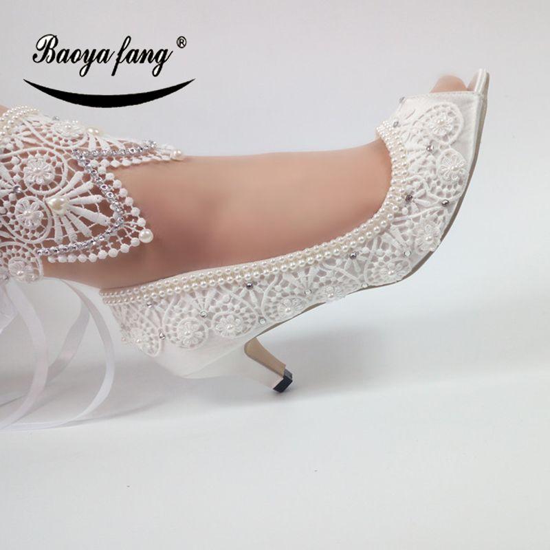 Chaussures Blanc Ouvert Mode Bride Mariée Mariage De Orteil Acheter 53Ajq4RL