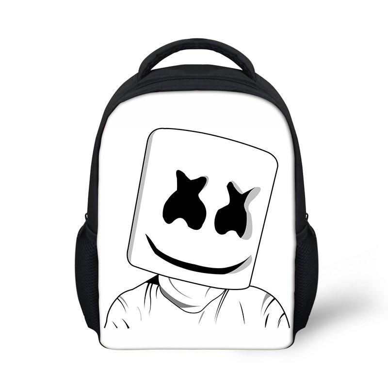 2d92e2268b65 Helmet Junior School Bag Marshmello Backpack For Kids Boy Girls Female  Backpack Printing School Supplies Casual Mask DJ Satchel Backpacks For  College ...