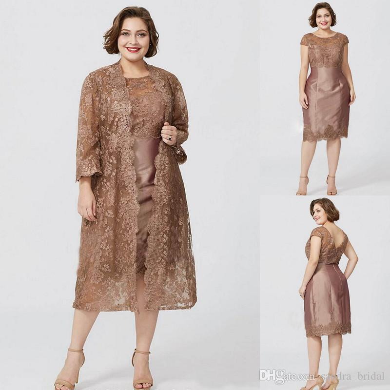 mother of the bride dresses with jackets plus sizes