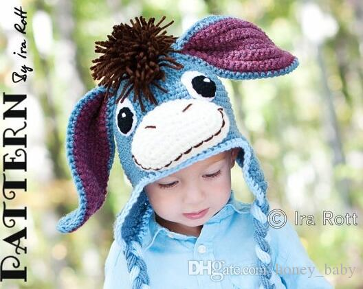 9f68aa0eda3 2019 Christmas Gift Crochet Abbey Cadabby Tiger Eeyore Pink Pig Knit Hat  Cap Newborn Infant Toddler Baby Boy Girl Winter Children Beanie Cotton From  ...