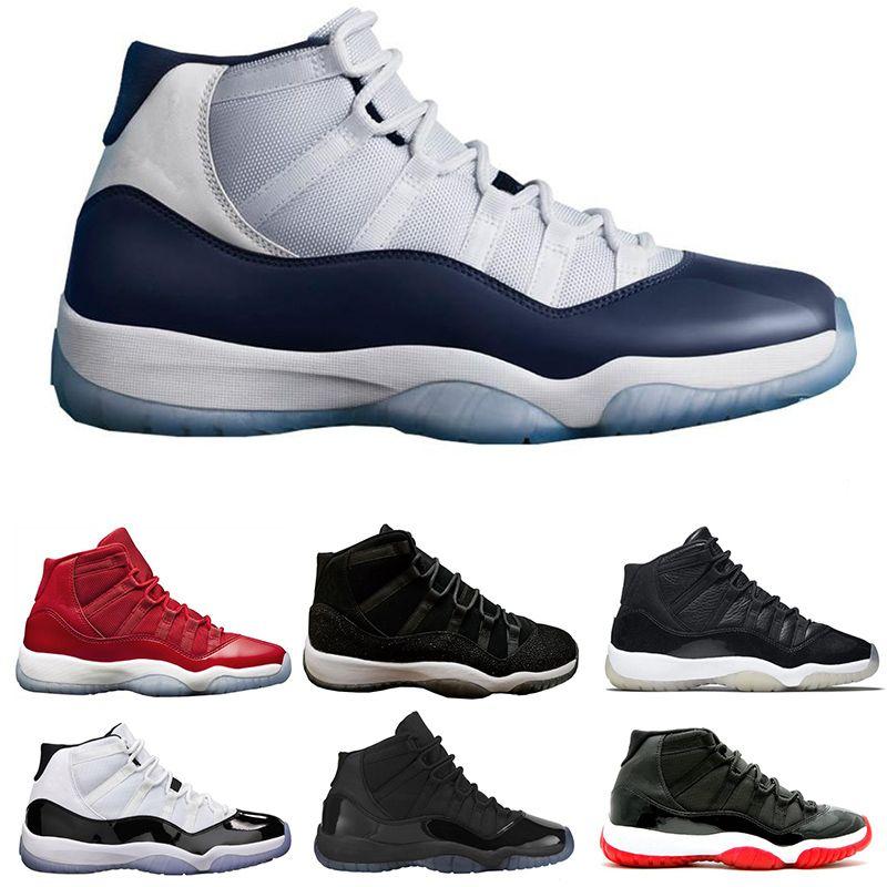 info for 681d9 96f9d Acheter Nike Air Jordan 11 Retro Wholesale Mode Couleur Noir, Rouge, Bleu  Et Blanc Respirant Chaussures De Haute Qualité Hommes Et Femmes Chaussures  ...