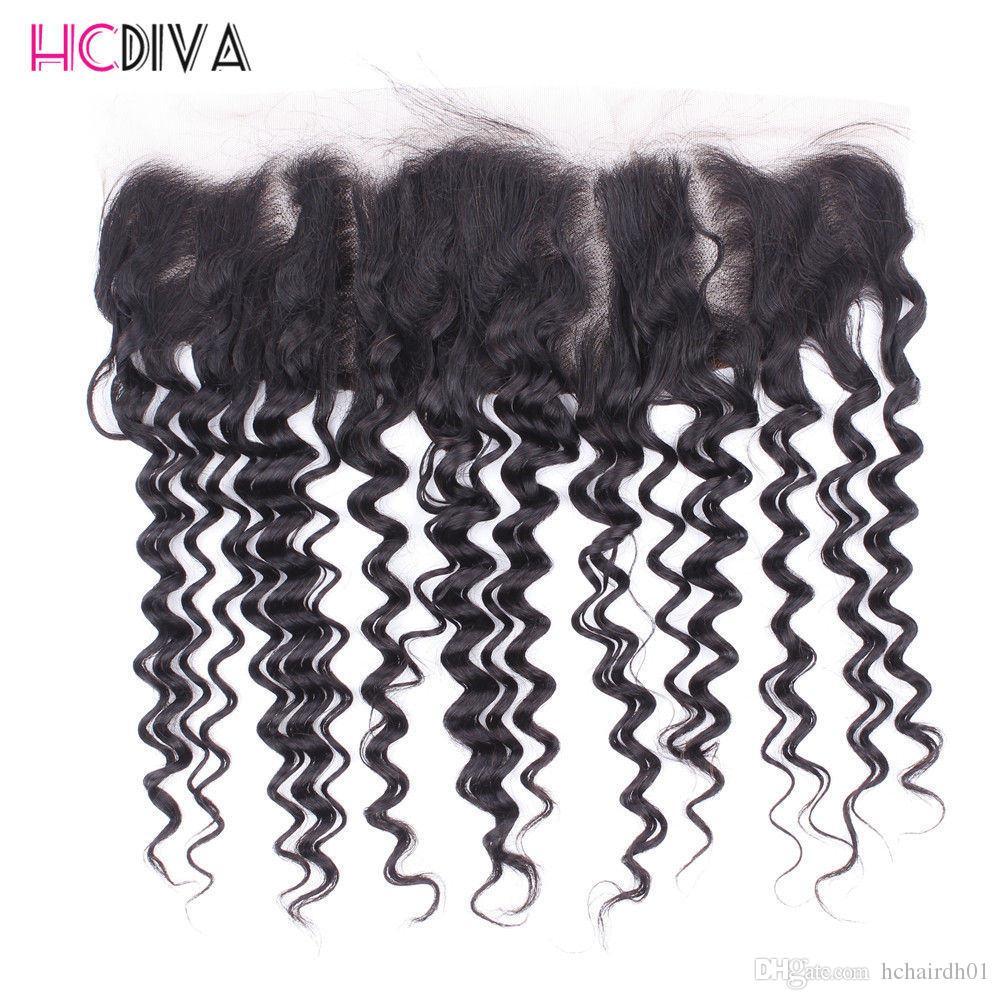 8A 학년 딥 웨이브 인간의 머리카락 3 묶음 폐쇄 브라질 머리 직물 번들 앞 정합 폐쇄 레이스 정면 폐쇄 비교