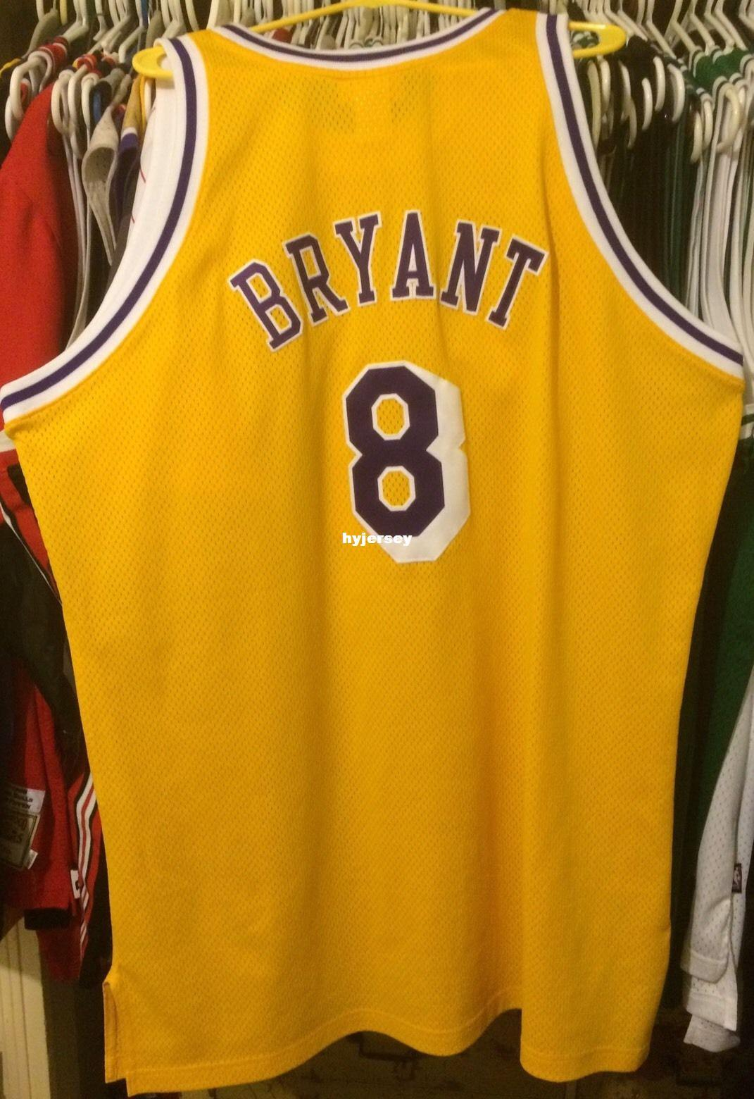cd8cd4fe0ba6 Throwbacks Cheap Wholesale Kobe Bryant Mitchell   Ness Jersey Gold ...