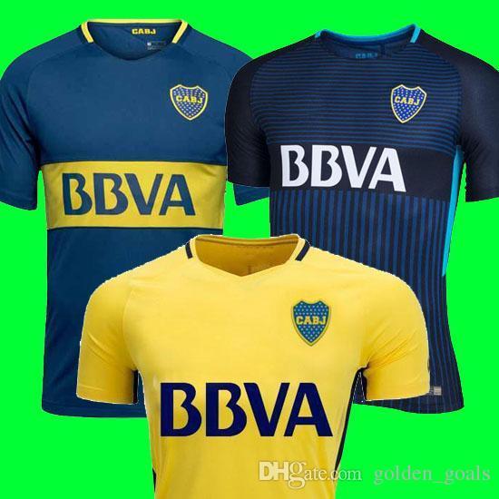 2019 Thailand 2017 2018 Boca Juniors Soccer Jerseys 17 18 GAGO CARLITOS  HOME AWAY Football Jersey Shirts Boca Junior 17 18 Camisetas De Futbol From  ... 986348bf42476