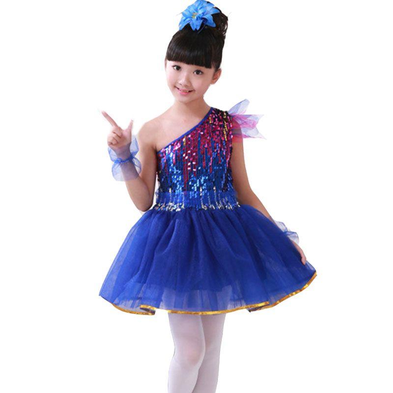 Acheter Fille Tutu Filles Costumes De Danse Salsa Moderne Danse Costume De Danse  Fille De Danse Robe Dancewear Danse Robe De Fille Costumes De Scène Pour ... aa73734a4bd