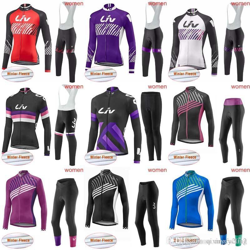 2018 Liv Women Winter Thermal Fleece Long Jersey Only Cycling Clothing Long  Sleeve Pro Cycling Jersey Bib Pants Sets Long Pants Winter C1301 Cycling  Outfit ... 1cc59d0b9