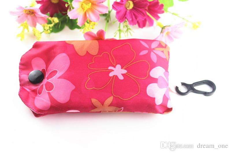 Recicle los bolsos Llavero Reutilizable Eco Plegable Bolsa de compras Bolso de las nuevas señoras llavero Envío gratis CM132