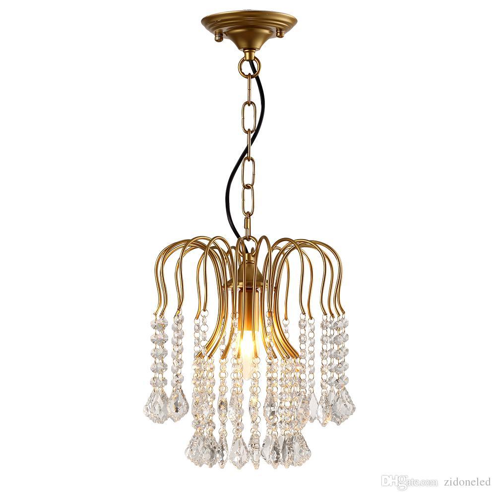 Amerikanischen klassischen Eisen Kristall Kronleuchter Lichter K9 Kristall Anhänger Leuchten goldenen Kronleuchter Wohnkultur E14 Halter