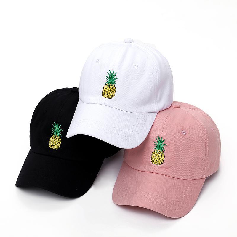 3496f8f15 Men & Women Pineapple Dad Hat Baseball Cap Polo Style Unconstructed Fashion  Unisex Dad Cap Cut Hats