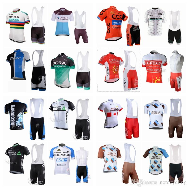 AG2R DIMENSION DATA Cycling Jerseys Short Sleeves Cycling Clothes Kit With  Gel Padded Shorts Hombre Racing Mtb Bike Sport Quick Dry A42418 Best  Cycling ... f74f10ca2