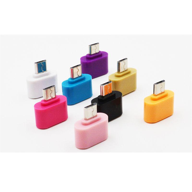 Convertisseur adaptateur mini-USB vers USB OTG pour téléphones Android Souris Clavier Clés USB