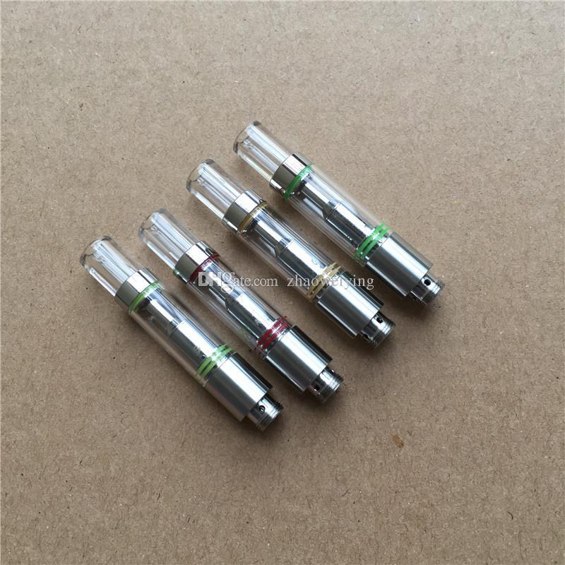 Recambios de cigarrillos electrónicos 510 vaporizador de aceite atomizador vidrio vape tanques de cerámica bobina .5ml vacío Cartucho de aceite grueso