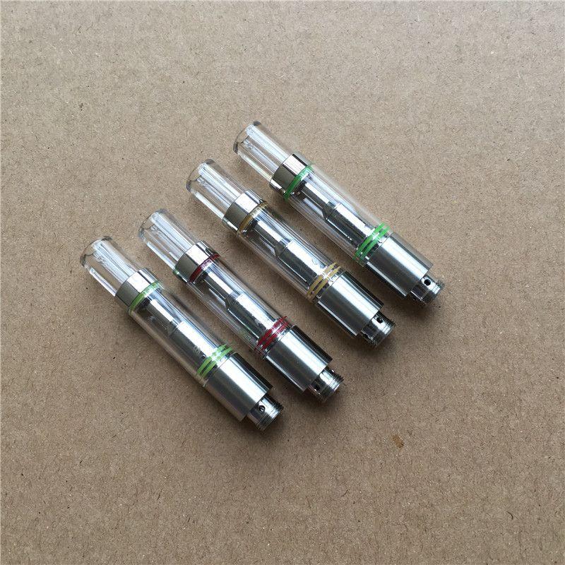 Ricariche di sigarette elettroniche 510 vaporizzatore di olio atomizzatore di vetro vape serbatoi bobina di ceramica .5ml vuoto Cartuccia di olio spessa