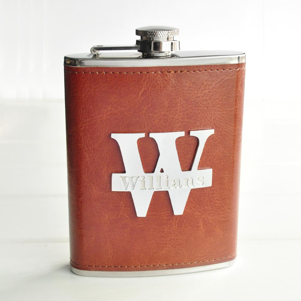 Custom Name Flasks Leather Hip Flask Personalized Flask Stainless Steel Groomsmen Gift Birthday Gift Gift For Men
