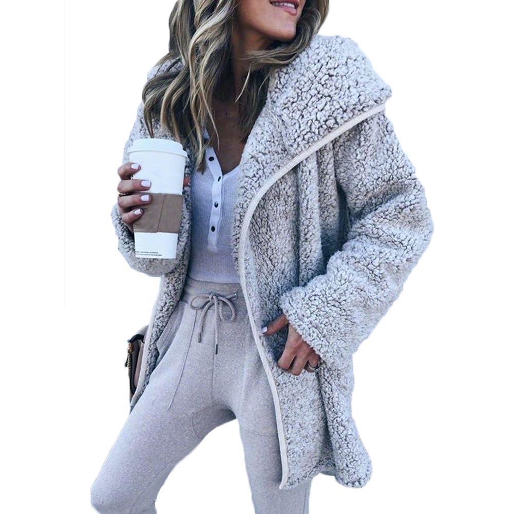 Jacken & Mäntel Basic Jacken Mode Frauen Winter Jacke Frauen Pelz Langen Mantel Jacke Weiche Oberbekleidung Top Winter Warm Fluffy Mantel Produkte HeißEr Verkauf