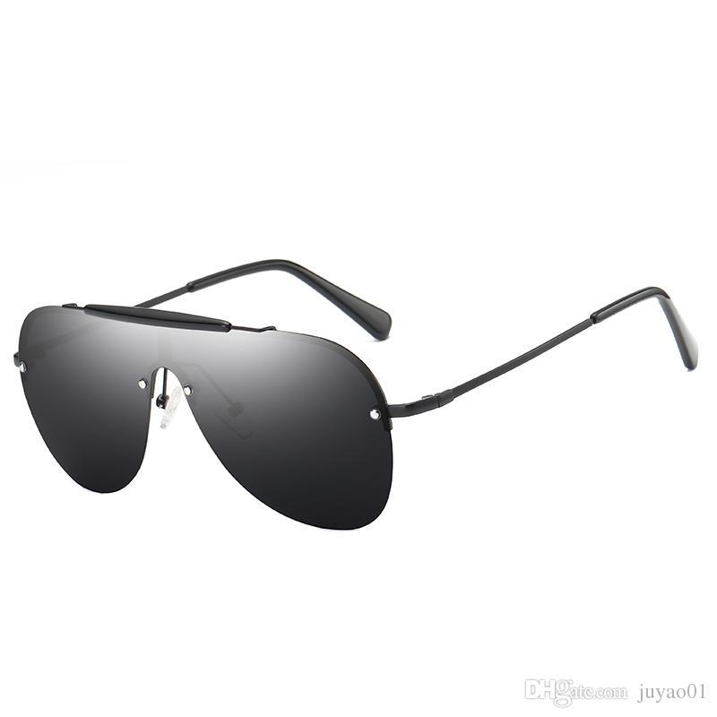 ba96d272b48d Genuine Half Frame Sunglasses Metal Large Frame Multi Color Polarizer Men  Driving Fashion Comfortable Sunglasses Frog Mirror Sunglasses Hut Reading  Glasses ...