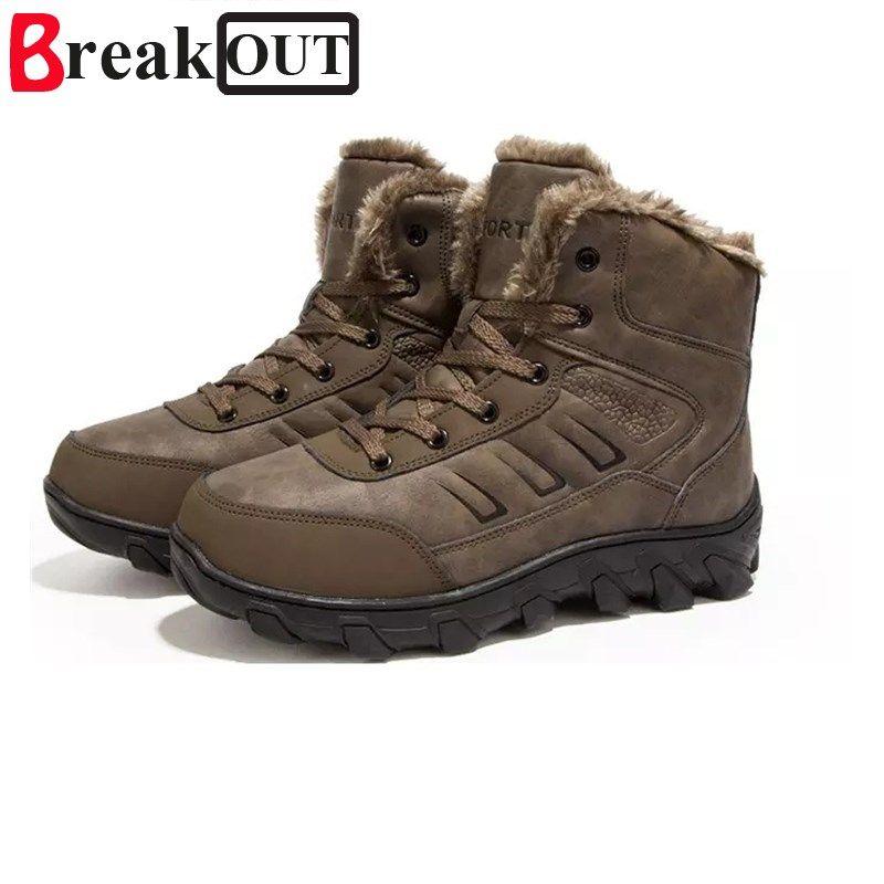 buy popular 6b090 57424 Compre Invierno Con Botas De Piel Para Hombre Zapatos De Invierno De Cuero  Para Hombres Tallas Grandes Tenis Zapatillas De Deporte Para Botines Hombre  ...