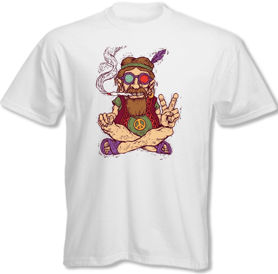 Großhandel Relaxter Out Hippie Rauchen Ein Spliff Herren Lustiges T